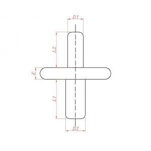 قطعات محوری دو سر