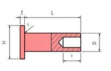 پرچ مورد استفاده در لنت ترمز و لنت کلاچ